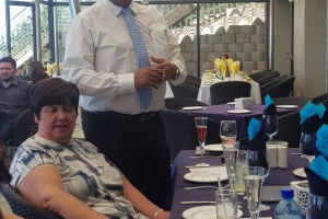 Farewell lunch for principal and secretary 2019